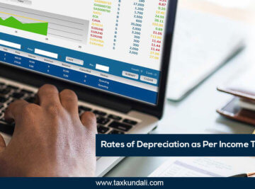 Rates of Depreciation as Per Income Tax Act, 1961